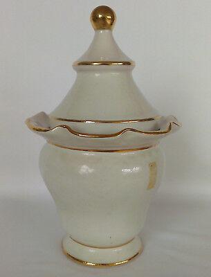 """Apotheker Gefäß """"Mjrra"""" Porzellan - schöne Form, antik, Goldauflage, apothecary"""