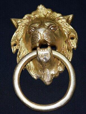 Lion Head Shape Door Knocker Victorian Style Brass Home Door Knocker Door Bell 6