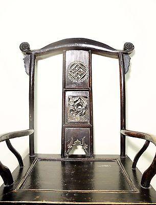 Antique Chinese High Back Arm Chairs (5569) (pair), Circa 1800-1849 6