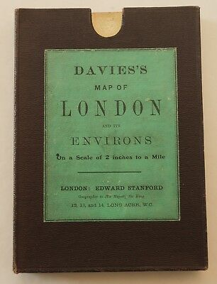 Davies's Map of London and its Environs, 1910, boxed 12