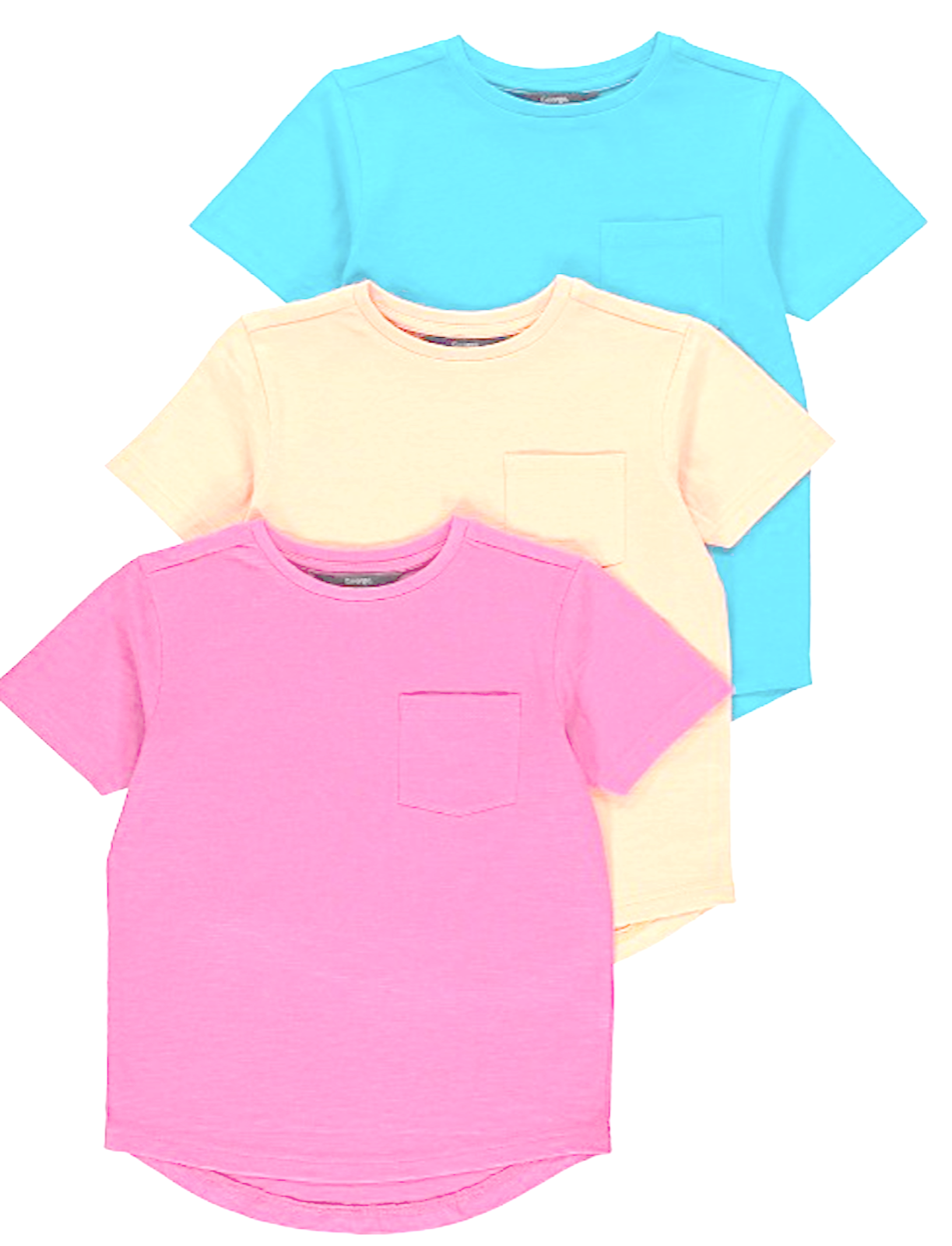 Kids Boys/Girls Unisex Crew Neck Short Sleeves T-Shirt Top 100% Cotton 5 to10YRS 2