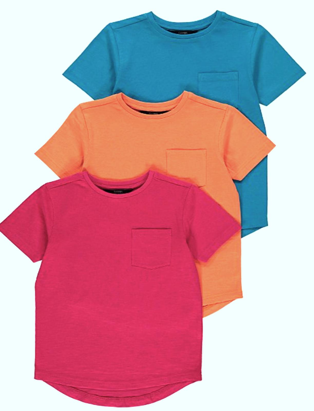 Kids Boys/Girls Unisex Crew Neck Short Sleeves T-Shirt Top 100% Cotton 5 to10YRS 3