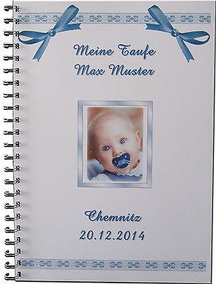Gästebuch Fotoalbum Taufe Geschenk Baby Bild Taufgeschenk Symbole  # Schleifen