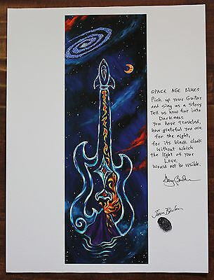 12x9 Inches SIGNED by Jason Becker and Gary Becker Art Print GUITAR KACHINA