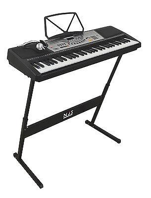NJS 61 Key Full Size Electronic Keyboard, Sheet Music Stand, Headphones, Stool 2