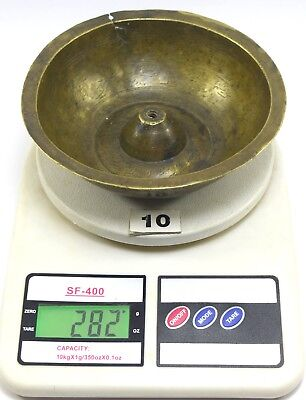 Antique indo Islamic brass magic deviation hand calligraphy holy bowl. G3-25 US 9