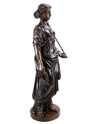 Griega Mitología Estatua de Bronce - Hygieia Diosa de la Salud- Limitada 6