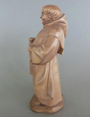 Mönch,Kellermeister ca. 17 cm hoch,Holz geschnitzt gebeizt, Sonderpreis Fleck !! 5