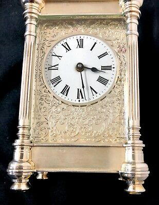 Limited Edition Sterling Silver Vintage Carriage Clock Charles Frodsham London 4