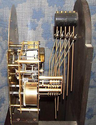 Antique Mahogany Grandmother Clock / Miniature Longcase : Westminster Chimes 11