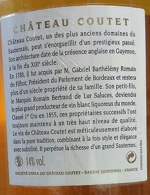 """CHÂTEAU """"COUTET"""" 2009 (3 MAGNUMS).95/100 PARKER.(Sauternes). 5"""