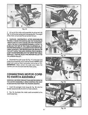 "Delta 10"" Table Saw Model 34-444 Operator & Parts List Manual #882"