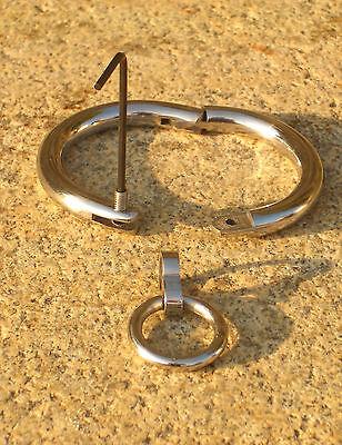 "Halsfessel Handschellen boundshop stainless steel KUB KB 895-N 12""-20"" Bondage 7"