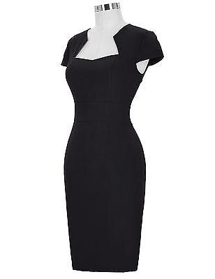 Donna Wiggle 1940s 50s 60s Vintage Retro vestito a tubino Stile Pin Up 8