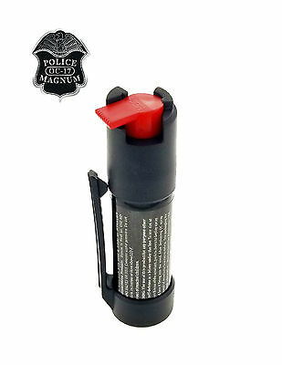 POLICE MAGNUM Pepper Spray 4 oz Ounce Safety Flip Top Belt Clip FREE 1/2oz Spray 11