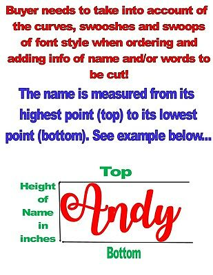 Custom Personalized Vinyl Lettering Name Decal Sticker .99¢--$3.89 4