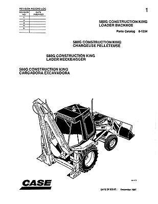 Case Backhoe Parts >> Case 580g 580 G Ck Loader Backhoe Illustrated Parts Catalog Improved