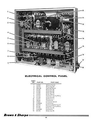 1030 1024 Brown /& Sharpe Micromaster 824 /&1224 Surface Grinders Parts Manual
