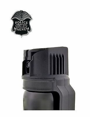 POLICE MAGNUM Pepper Spray 4 oz Ounce Safety Flip Top Belt Clip FREE 1/2oz Spray 4