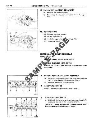 Toyota 2Y 3Y 4Y Engines Workshop Repair Service Manual In Disc 3
