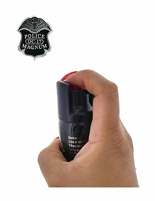 3 PACK Police Magnum Pepper Spray 2 oz ounce Safety Lock Self Defense Security 3