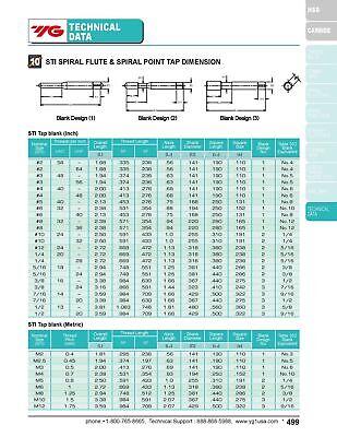 4pcs 3/8-16 H3 3 Flute Spiral Point Plug Screw Thread Insert Tap HSS Bright 7