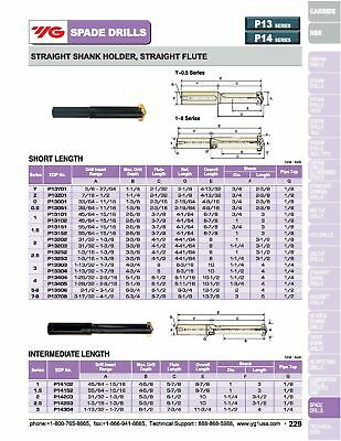 "3"" Shank, Straight Flute Standard Length Spade Drill Holder, Series 7-8, 6"