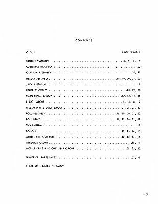 New Holland 469 Mower Haybine Conditioner Parts Catalog Book List