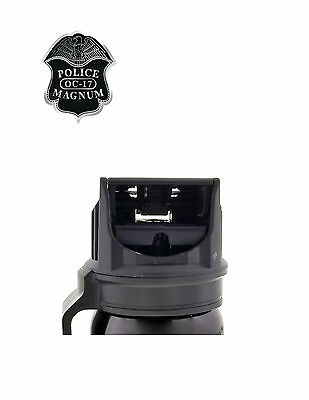 POLICE MAGNUM Pepper Spray 4 oz Ounce Safety Flip Top Belt Clip FREE 1/2oz Spray 6