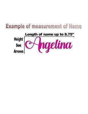 Custom Personalized Vinyl Lettering Name Decal Sticker .99¢--$3.89 5