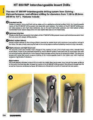 13.00mm - 13.49mm Insert Range, 16mm Shank, HT800WP 3XD Indexable Drill Body, 7