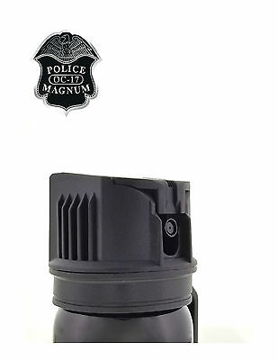 POLICE MAGNUM Pepper Spray 4 oz Ounce Safety Flip Top Belt Clip FREE 1/2oz Spray 5