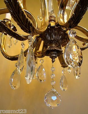 Vintage Lighting glamorous 1970s crystal chandelier by Lightolier 6