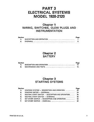 ford b ford new holland 1920 2120 tractor shop service repair manual print  ford b tractor alternator wiring