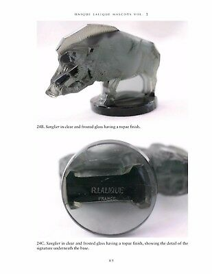 LALIQUE FRENCH GLASS CAR MASCOTS, HOOD, DESK ORNAMENTS, PAPERWEIGHTS Vol. 1 book