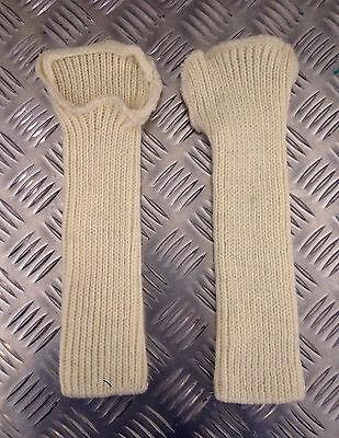 Genuine British Army Wool / Woollen Wristlets / Fingerless Gloves - BRAND NEW 2