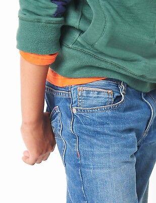 Boden Kids Boys Straight Adjustable Waist Jeans Age 6 Years BNWT Indigo Dyed 4