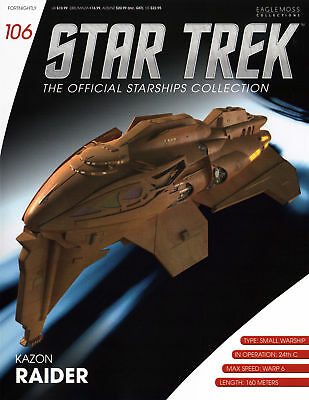 Kazon Raider - Star Trek Eaglemoss #106 englisch - Metall Modell Model - neu