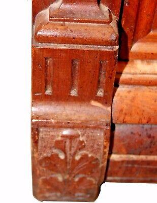 Antique American Victorian Eastlake Walnut & Rose Marble-Top Dresser 11