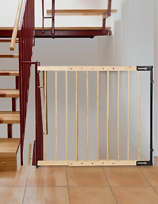 Treppenschutzgitter Clamaro verstellbar von 75,5 - 117 cm universal Treppen, Tür 3