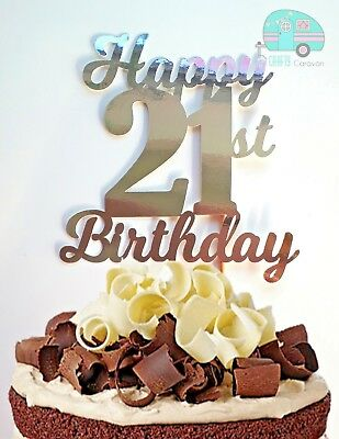 Awesome Happy 21St Birthday Cake Topper Any Age 16 18 21 30 40 50 60 70 80 Funny Birthday Cards Online Alyptdamsfinfo