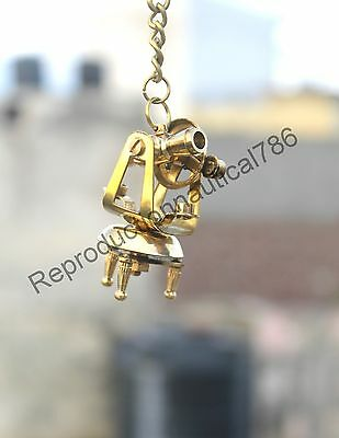 Nautical Design Brass Survey Theodolite Key Chain Maritime Collectible Key Ring 3