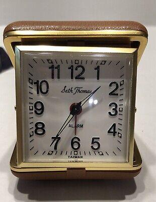 Vintage Phinney Walker Black Dial & New Seth Thomas Travel Alarm Clocks-Estate 2