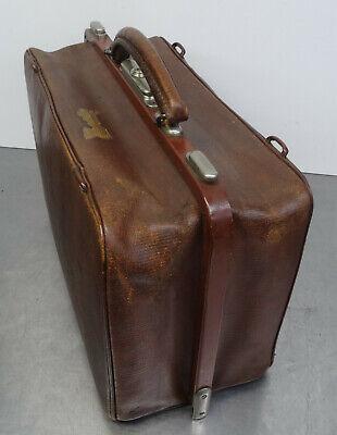 Antike Hebamme Doktor Koffertasche Koffer Arzt Leder Tasche 3