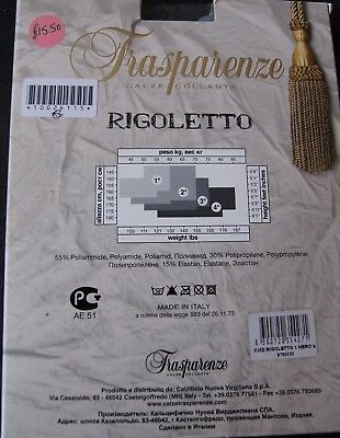 "Trasparenze ""Rigoletto""  Var B Black/Grey/Grey Back Seam Opaque Tights S 4"