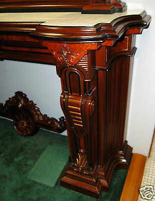 Renaissance Revival Mantel and Over Mirror #4878 7