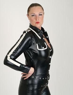 Latexanzug Ganzanzug Military Latex 0,4mm rubber Catsuit Herren Damen Uniform 2