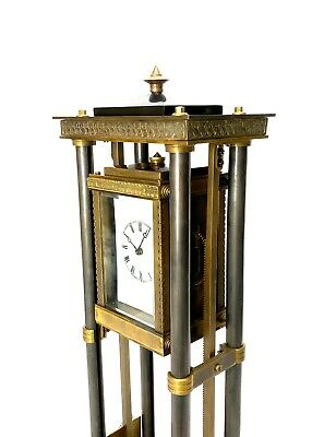 French Style Falling Gravity Driven Bronze Industrial Elevator Industrial Clock 8