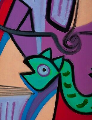 """MÁSCARA"" ÓLEO SOBRE LIENZO, 50x65 cm. Obra original de Guillermo Ferrer Gávila 2"