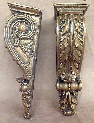 Shelf Acanthus leaf Wall Corbel Sconce Bracket Home Decor Pair Bronze Finish 4
